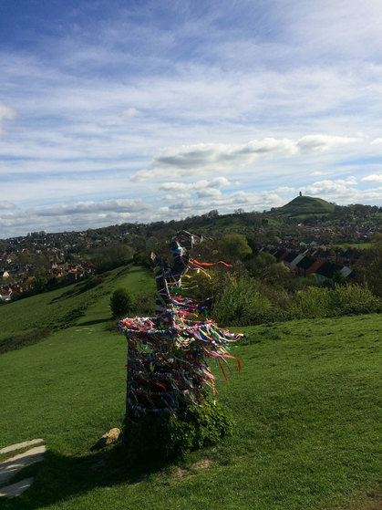 Looking over to Glastonbury Tor