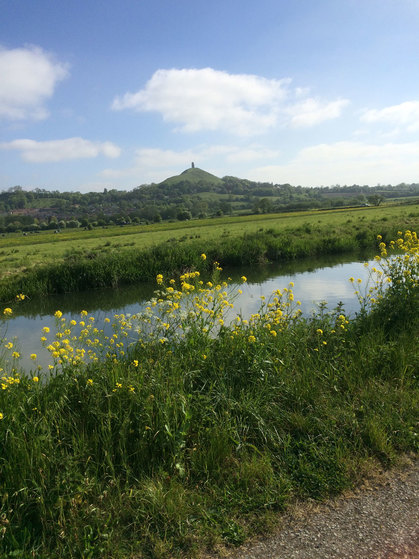 Glastonbury Tor from the Somerset Levels